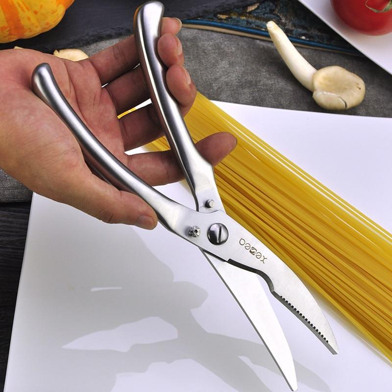 High Quality Kitchen Scissors Multifunctional Kitchen Tools Stainless Steel Scissors Nut Cracker Chicken Bones Cutter