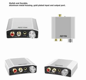 Image 5 - Reiyin 192kHz 24bit الصوت DAC Toslink محوري إلى RCA سماعة محول لجهاز ألعاب PS4 Xbox