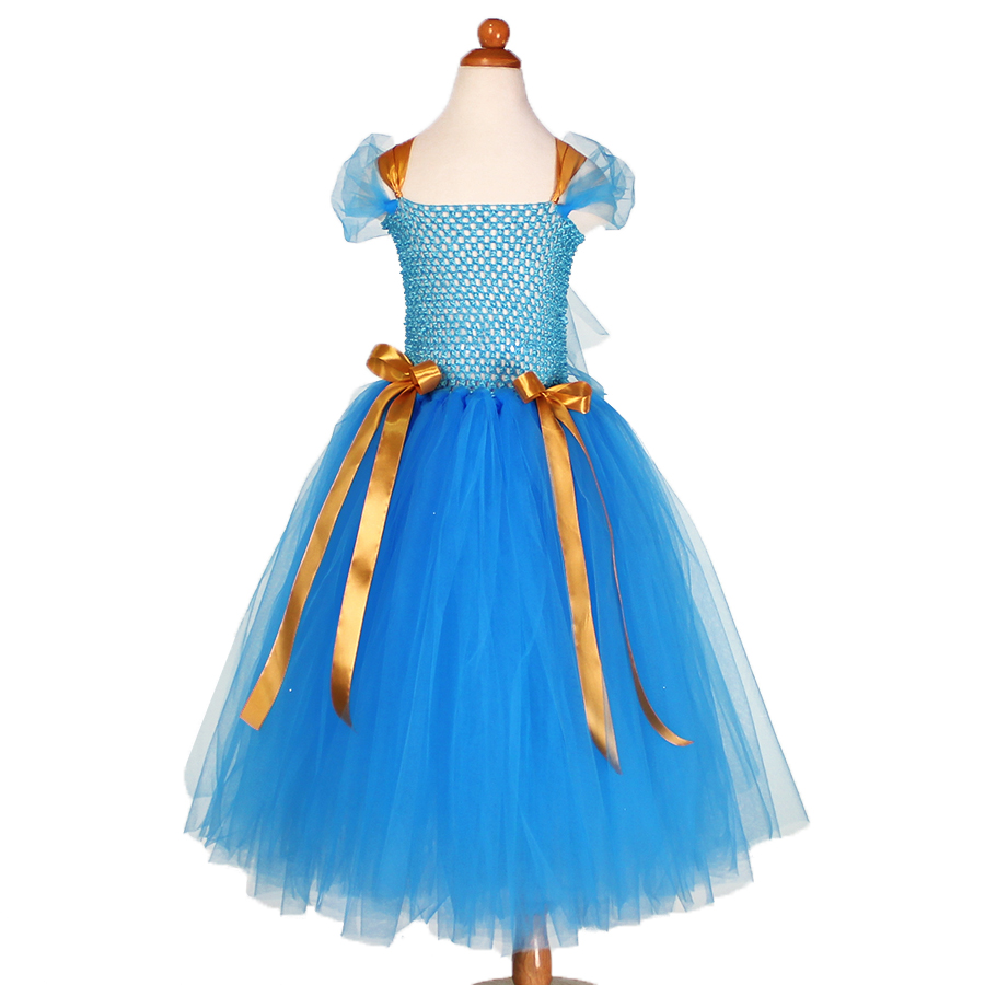 Cinderella Princess Character Dress Child 3t 4t 5 6 7: Princess Cinderella Handmade Tulle Tutu Dress For Kids