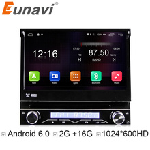 "Eunavi Universal 7 ""1 Din 2G RAM Android 6.0 Quad Core Auto DVD Radio Stereo GPS Navigation Mit WIFI lenkradsteuerung"