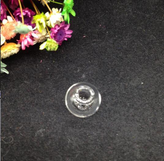 10 шт. 12 мм ясно, двойной круглое отверстие стеклянный шар пузырь Крышка Кулон стекло желание флакон DIY подвеска ювелирные изделия делая выво...