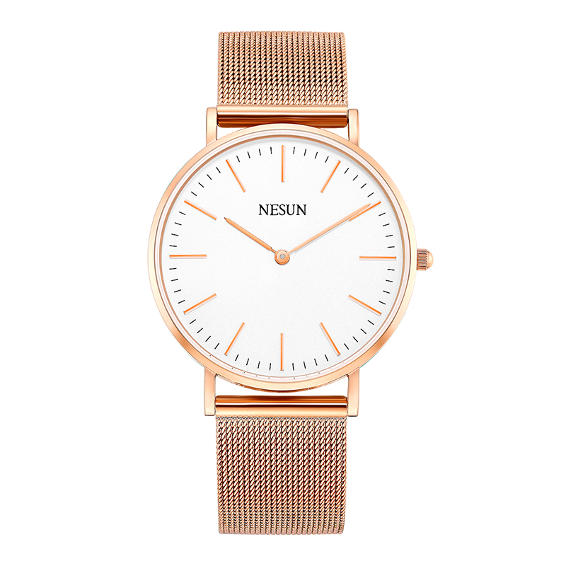 Switzerland Nesun Watch Men & Women Luxury Brand Japan MIYOTA Quartz Movement Lover's Watches Sapphire Waterproof Clock N8801-W1