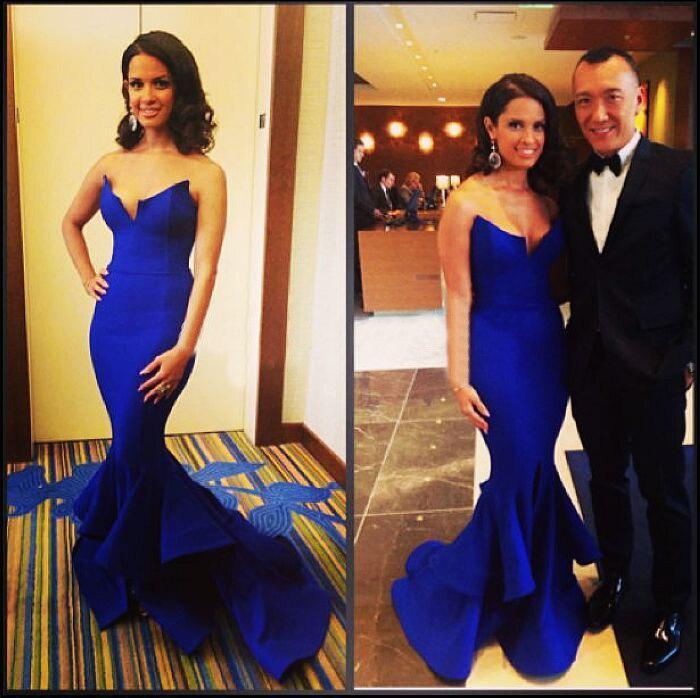 Лидер продаж дешевые женское вечернее синее платье атласное с юбкой-русалкой Платья знаменитостей женские вечерние платья изготовление размеров под заказ 4681012 14 16 18+ E89