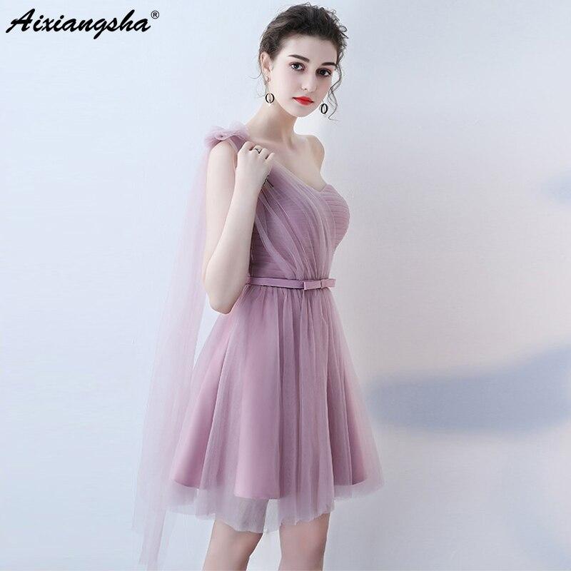 Six Styles Bridesmaid Dresses Custom Color&Size Mini Bridesmaid Dress vestido de festa robe demoiselle dhonneur For Wedding