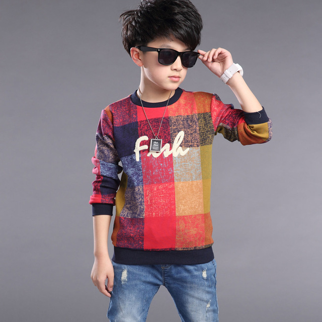 New 2016 children kids long sleeve t shirts baby boys fashion t shirts high quality big boys tops tees