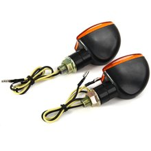 12V 2W Motorcycle Turning Signal Indicator Light Blinker Cornering Lamp E11 Bulb 2Pcs Energy Saving Long Lifespan for Motorbike