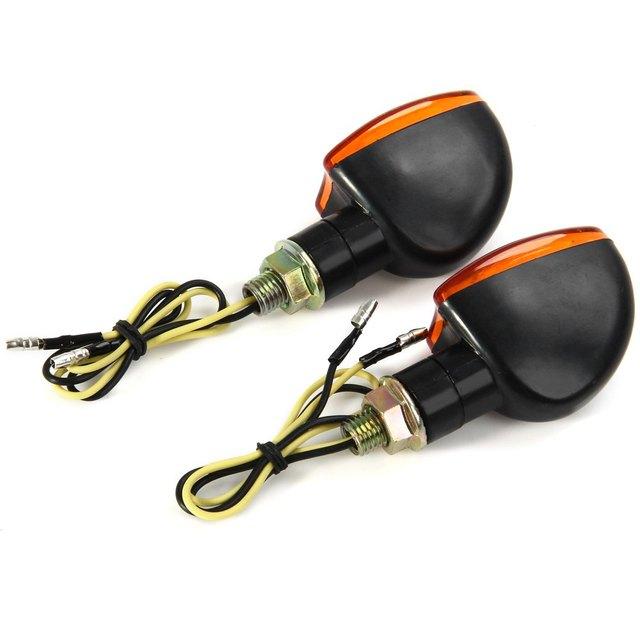 12V 2W Motorcycle Turning Signal Indicator Light Blinker Cornering Lamp E11 Bulb 2Pcs Energy Saving Long Lifespan for Motorbike