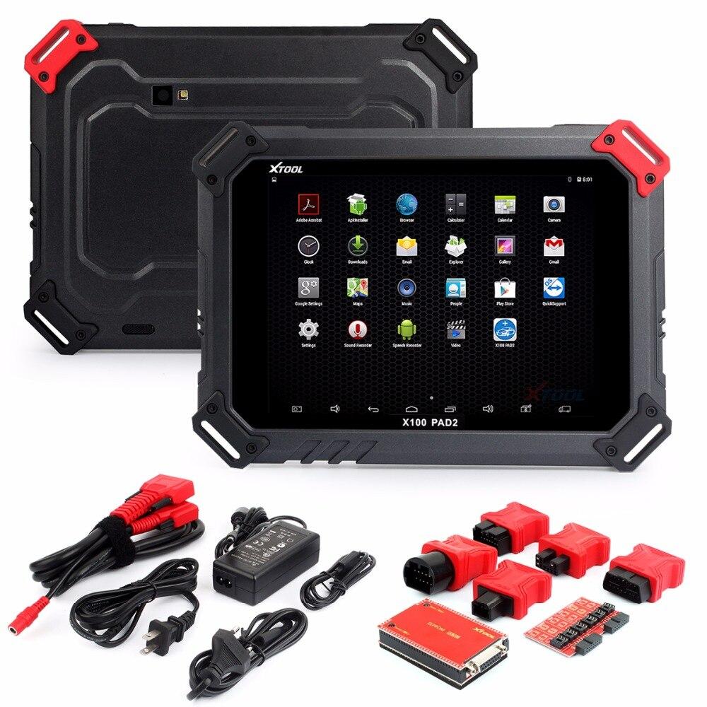 2018 New XTOOL X100 PAD2 Com EPB EPS OBD2 Ajustar Odômetro Auto Programador Chave XTOOL X100 PAD2 Melhor do que X300 pro3 Atualização Gratuita