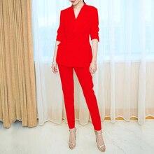 Pant Suits Spring Autumn Women Set 2020 New Fashion Two-piec