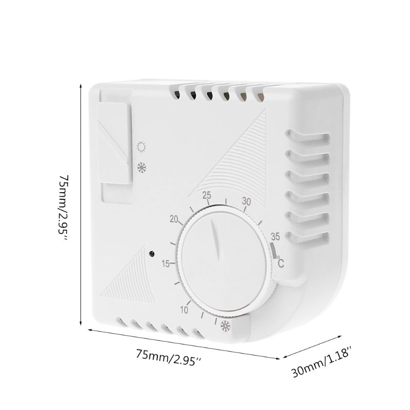 Universal Room Floor Heating Thermostat Energy Saving Mechanical Thermometer Temperature Controller Switch