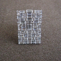 Marquise Fashion 925 silverAAA cubic Classical square surface columnar stone embedding ring,shinning, for women.RC063