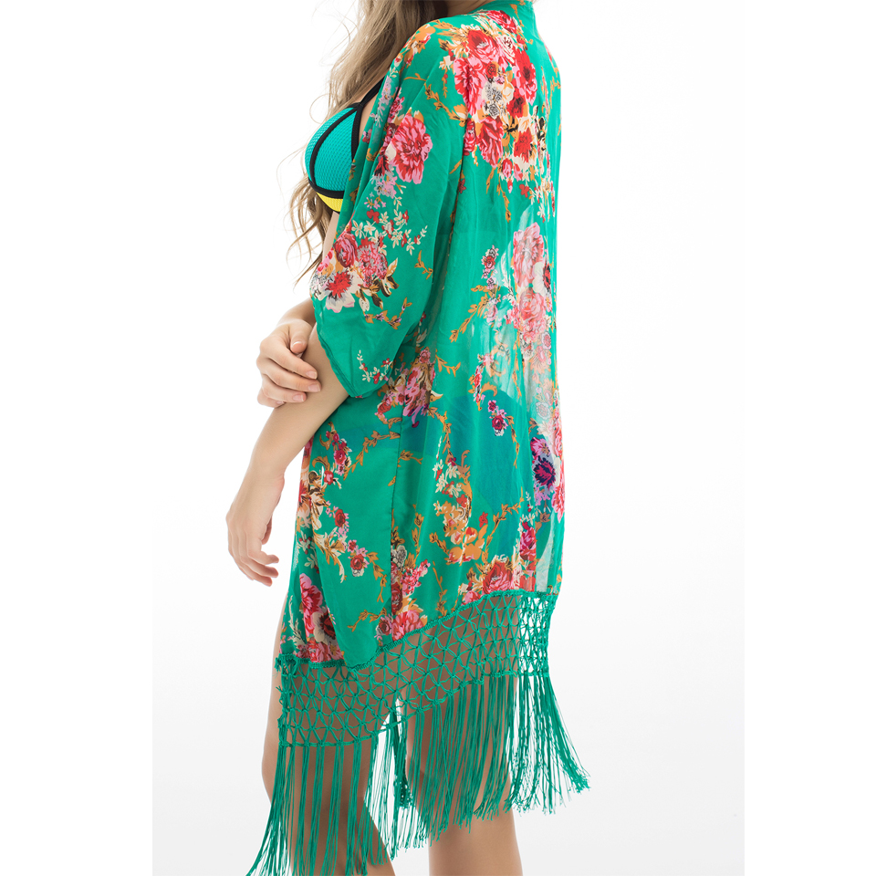 Buy 2016 summer floral beach cover up for Beach shirt cover up