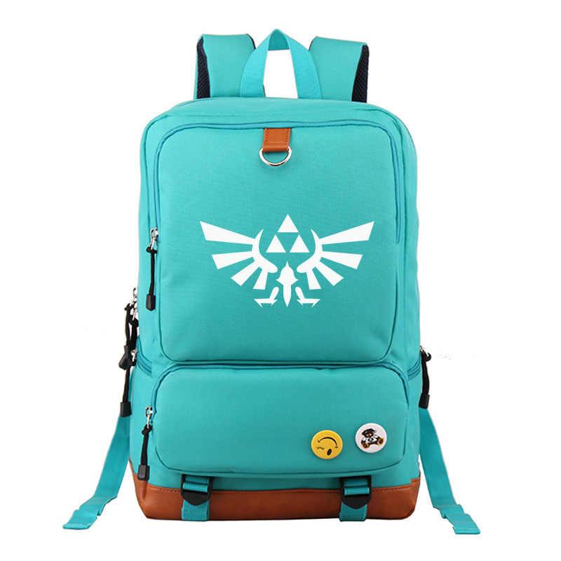 2019 Hot Games The legend of Zelda Boy Girl School bag Women Bagpack Teenagers Schoolbags Canvas Men Student Backpack Packsack