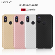 HATOLY Cover Xiaomi Mi 8 Case Xiaomi Mi8 Soft Rubber Silicone Armor Protective Phone Shell Bumper Phone Case For Xiaomi Mi 8