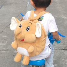 1pcs 4 Colors 30cm Elephant Backpacks Cute Elephant Plush Backpack Cartoon Schoolbag for Kid Kindergarten Children Elephant Doll(China)