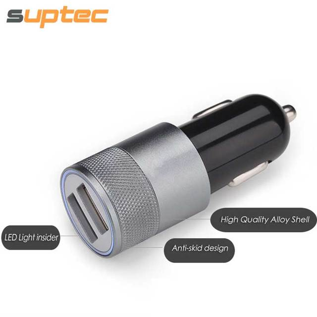 SUPTEC Car Phone Charger 2 Port Mini Dual USB Car Charger Adapter Quick Charging 5V 2A for iPhone Samsung Xiaomi LG Car-Charger cheap Meizu LG xiaomi Apple ZTE Nokia SONY Motorola Blackberry Other HTC Huawei Lenovo Universal Samsung Sup-charger001 RoHS CE FCC