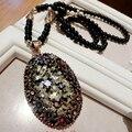 Envío Libre Collar de Cristal Joyas al por mayor Collar de Moda collar Vintage collar largo de perlas de Buda Regalo