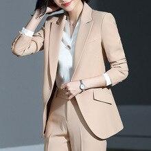 Женский костюм, новинка, осень, большой размер, длинный, сплошной цвет, модный костюм, брюки, комплект из двух предметов, Темпераментная Женская одежда