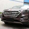 Cromado ABS Plastic Frente Bonnet capa Grade Da Grade Guarnição Capa Para Hyundai Tucson 2015 2016