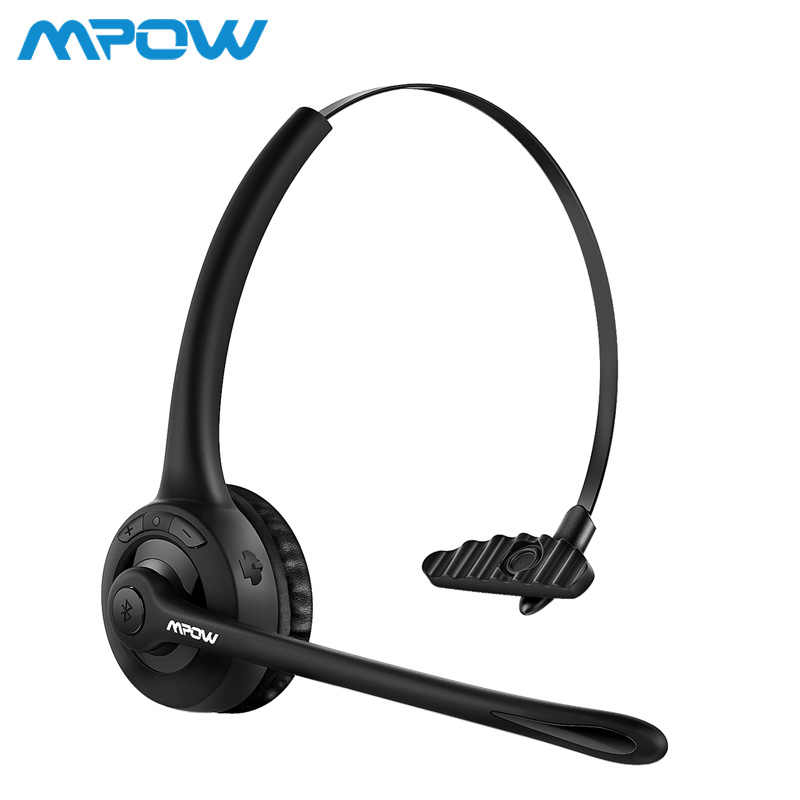 77a81060cec Mpow Pro Headphone Updated MBH15 Over Head Wireless Bluetooth Headset With  Mic For Trucker Driver Call
