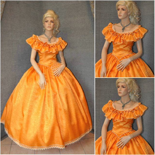 Us 1680 History Customer Made 19 Century Vintage Victorian Dresses 1860s Civil War Southern Belle Gown Cosplay Dresses Us4 36 C 526 On