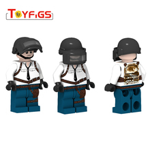 Military LEGOINGLY building blocks double-sided figures weapons pan block DIY equipment bricks birthday gifts for childrens