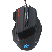 2017 new 5500DPI 7 Buttons LED Optical USB Wired Mouse Gamer Mice computer mause mouse Gaming Mouse For Pro Gamer