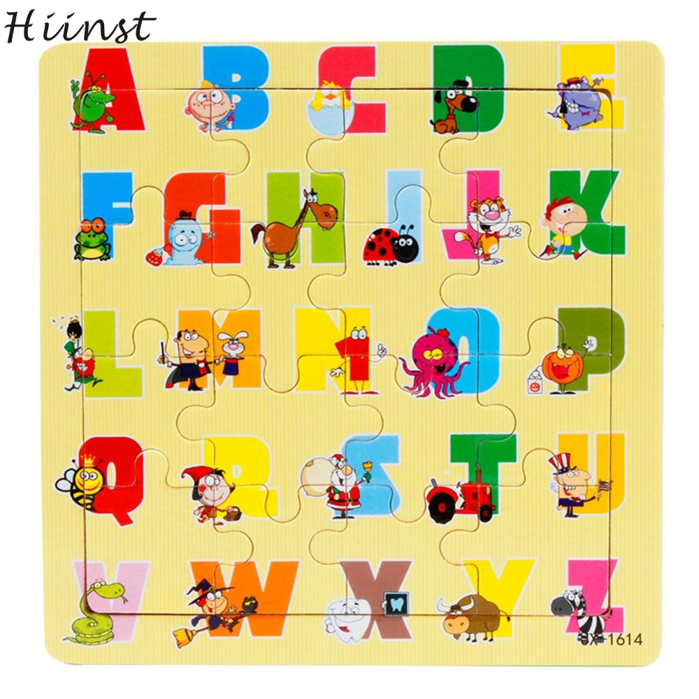HIINST toys kids 2017 Pieces different Wooden Jigsaw Learning Puzzles Toys wholesale*R Drop