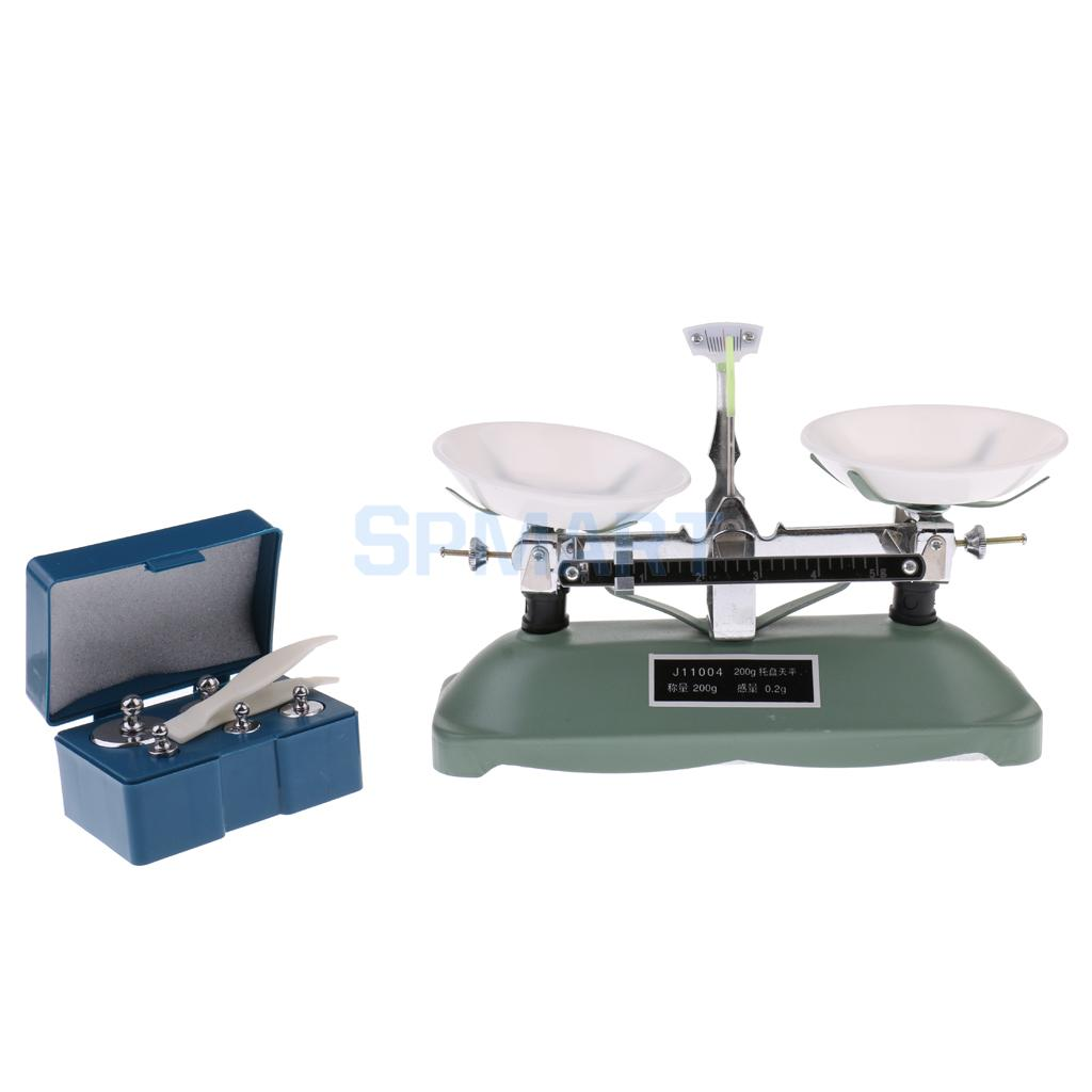 Balance Laboratory Apparatus 200 Gram Table Balance Scale With Weights For School
