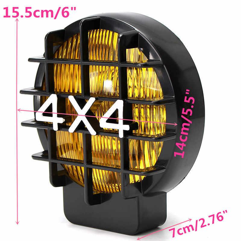 1 par 6 Polegada 55 w lâmpada do carro luz de trabalho 4x4 nevoeiro luzes da cabeça condução para jeep fora estrada suv barco