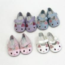 1 Pair Cartoon Mini Doll Shose 7cm for 43cm Born Babe Dolls Shoes For Reborn Bebe Doll Shoes 18 inch Girl Doll Cute Shoes(China)