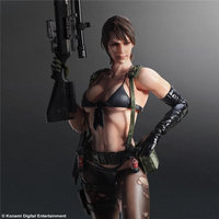25CM Sexy Girl Figure Resin Figure Kit 1/6 Metal Gear Quiet Garage Kit Figure For Your Friend Birthday Gifts