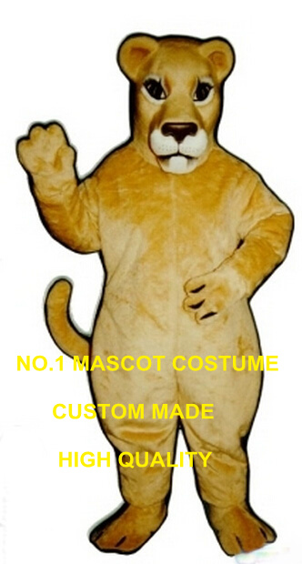Realistic Lioness Mascot Costume High Quality Customized Female Lion