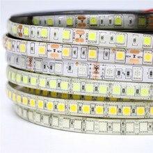 Tira de led rgb, 5050 60 120 leds/m dc 12v ip20 ip65 à prova d' água flexível dupla luz fita da lâmpada pcb 300 600 leds 5 m/lote
