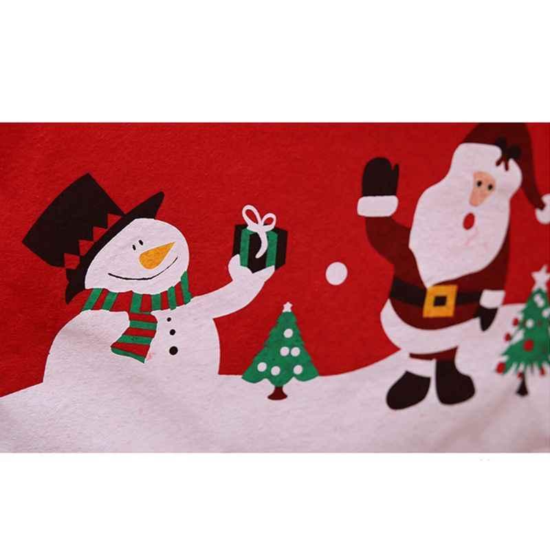 Рождественский чехол на стул Санта Клаус шапка Рождественская елка Снеговик напечатанный нетканый материал обеденный стол сиденье домашние Декорации для вечеринки