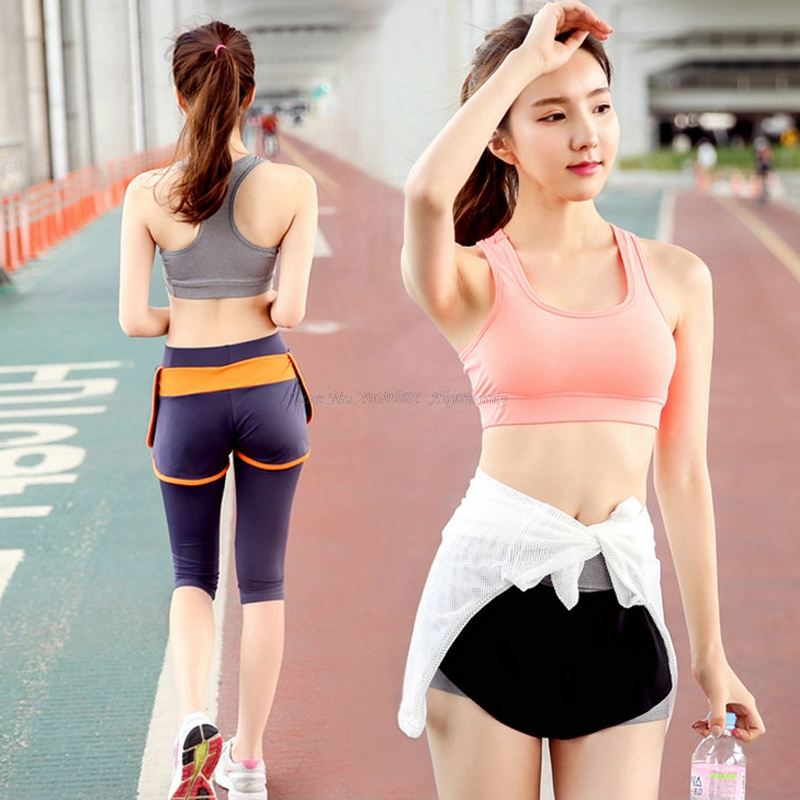 Cross Back Seamless Wire Compresión libre Transpirable Mujeres Push - Ropa deportiva y accesorios
