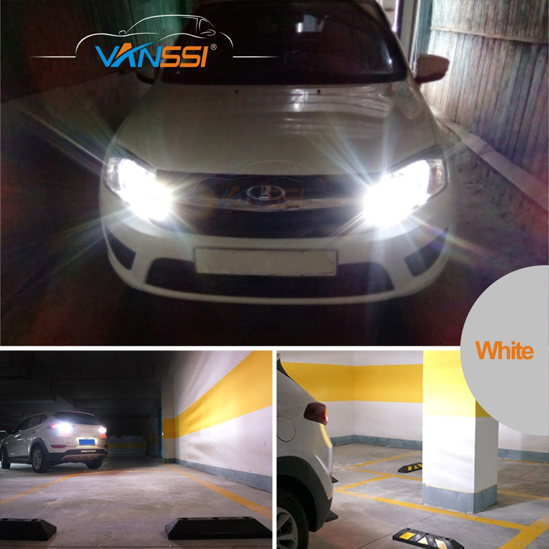 VANSSI 2pcs T20 7440 W21W 7441 7443 7444 W21/5W LED Bulbs for LADA Dimension Lights Bulbs Super Bright White Amber DC12-24V