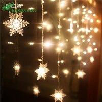 CHASANWAN 3 5M 96LED Snowflake String Fairy Lights New Year Xmas Party Wedding Garden Light Lamp