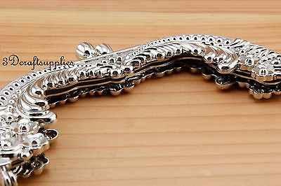 Metall geldbörse rahmen verschluss clip legieren nickel 5 zoll x 2 1/4 zoll D33