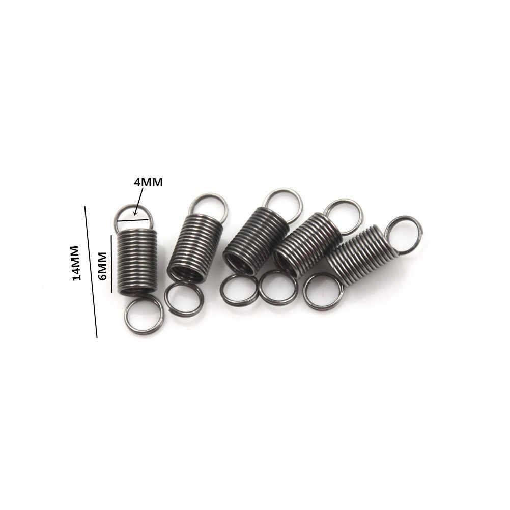 10/20 pces diy brinquedos 30mm 4 mm de aço inoxidável mola de tensão pequena com gancho para tração