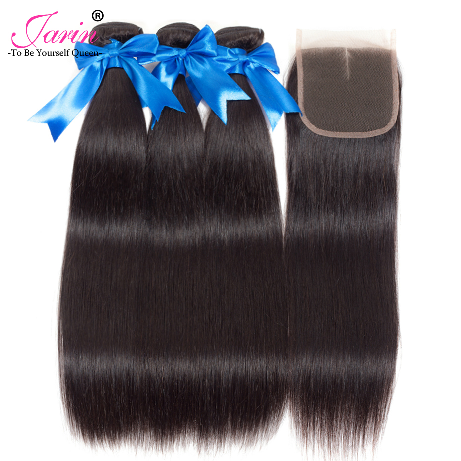 30 30 30 with 22 Lace Closure Peruvian Straight Hair Jarin Remy Long Hair