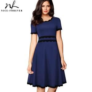 siempre elegante para encaje de elegante de vintage fiesta Vestido ZS8wYxqW6