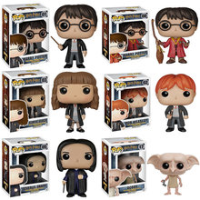 Funko pop The Harry potter Dobby Hermione Granger Ron Weasley Toy Severus snape POP Action Figures Doll toys for children(China)