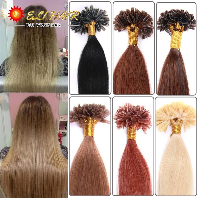 16 24100 Strands Keratin Glue Hair Extension Brazilian Colored