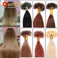 16''-24''100 Strands Keratin Glue Hair Extension Brazilian Colored Human Hair Blonde Color For White Woman Unice Hair Products
