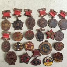 Китай Каждый период Меди Honor Памятная Медаль Дружбы украшение металла ремесло много тип Random отправлено 10 шт
