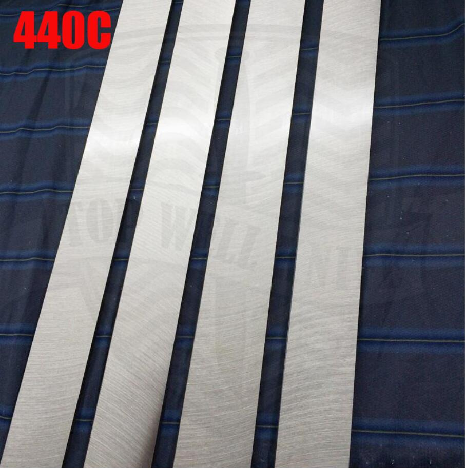 HRC58-60  heat  After the heat treatment 440C stainless steel plate bar rod knife DIY blade More size choose  cutter blank