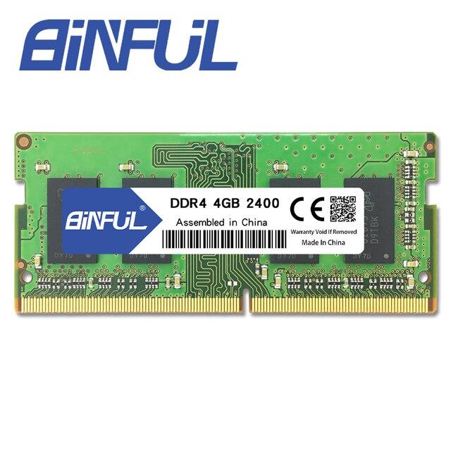 BINFUL DDR4 4 GB 2400 MHz Sodimm Memoria de Baixa Tensão 1.2 v Laptop Notebook Memória Ram de Alta Qualidade
