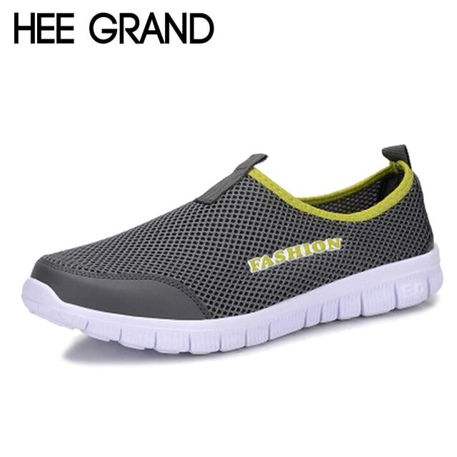 HEE GRAND 2017 Летние Ботинки Мужские Ленивый Сетевые Обувь Мужчины Обертывание Ног Дышащей Обуви Груза падения Размер 46 XMR199