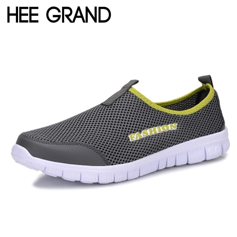 Men's Casual Shoes Hee Grand 2017 Summer Casual Shoes Male Lazy Network Shoes Men Foot Wrapping Breathable Shoes Drop Shipping Size 46 Xmr199